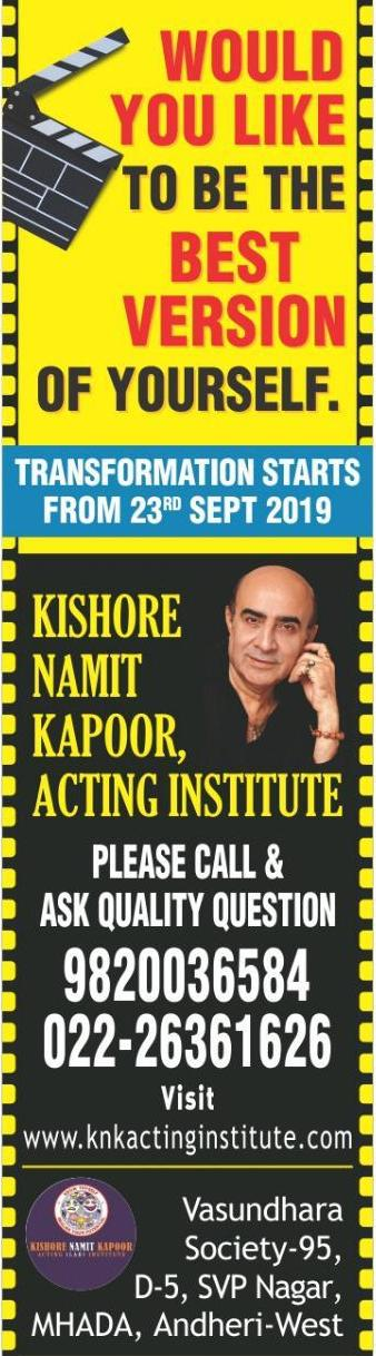 Kishore Namit Kapoor Acting Institute – Bollywood's